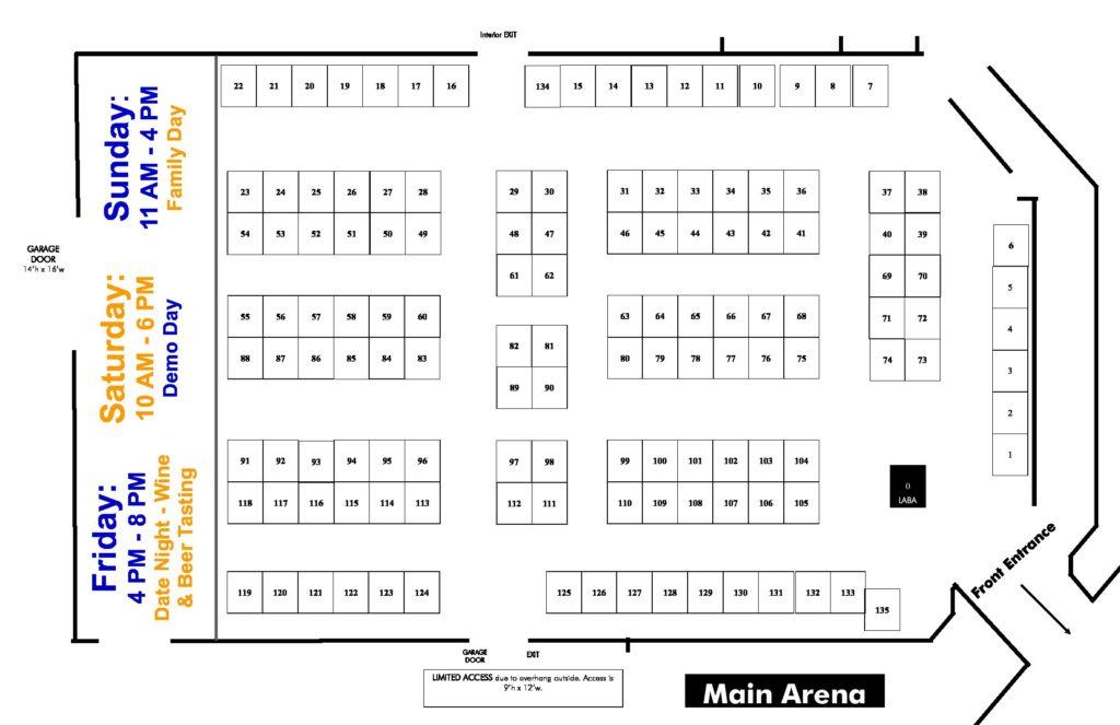 LABA Home Show Map of Omni Center Onalaska