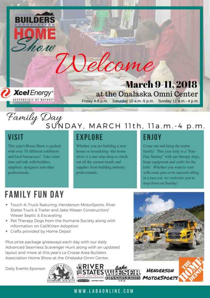 2018 home show daily event flyers laba