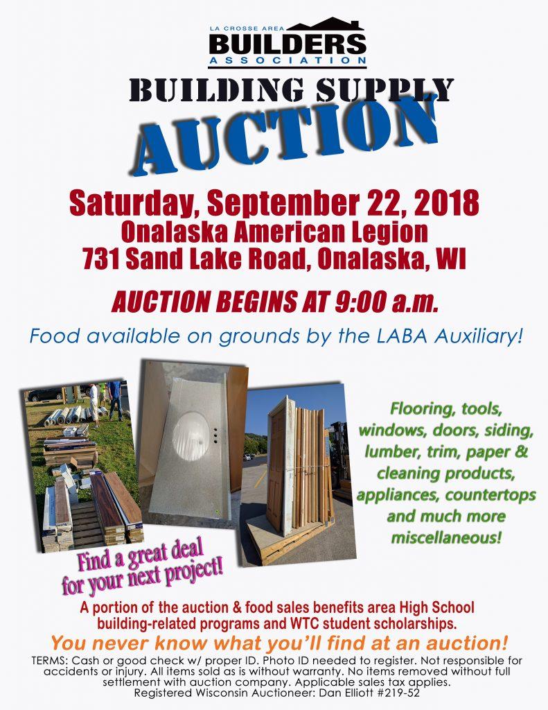 La Crosse Area Builders Association - Building Supply Auction